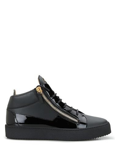 Giuseppe Zanotti Giuseppe Zanotti  Fermuar Detaylı Erkek Deri Sneaker 101625079 Siyah